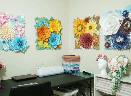 Autumn Paper Flower Wall Decor
