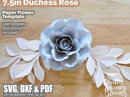 7.5-in Duchess paper rose template