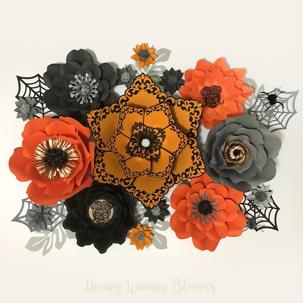 Halloween paper flower set