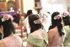 Bridesmaid hair accesssories