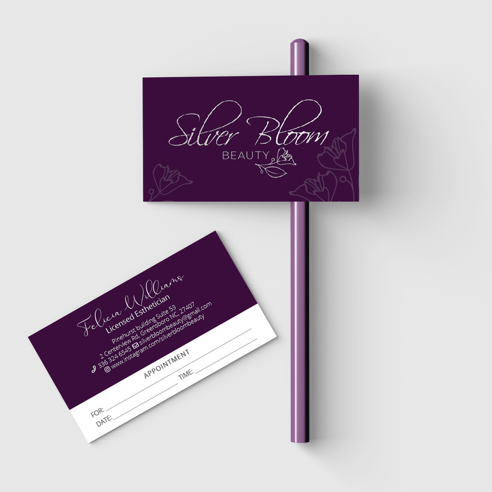 Silver Bloom Beauty's business card