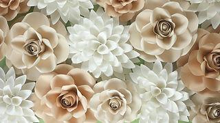 Cardstock paper flowers