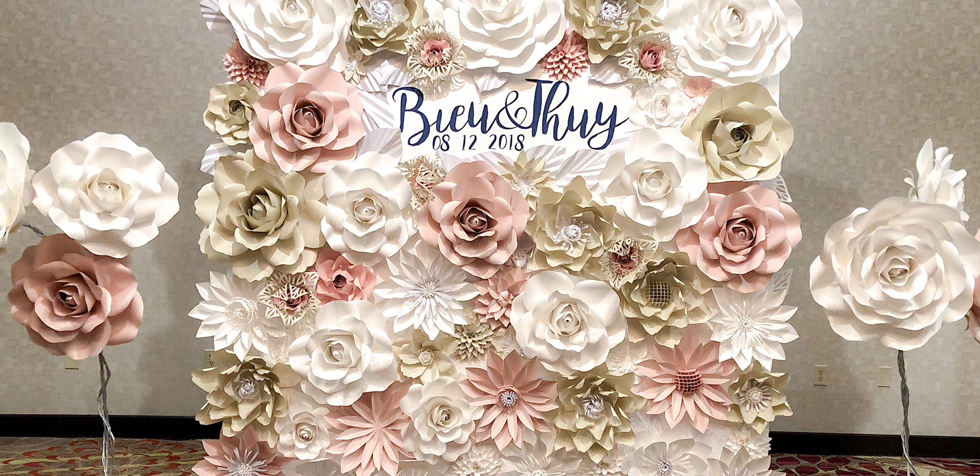 Blush, creams and whites