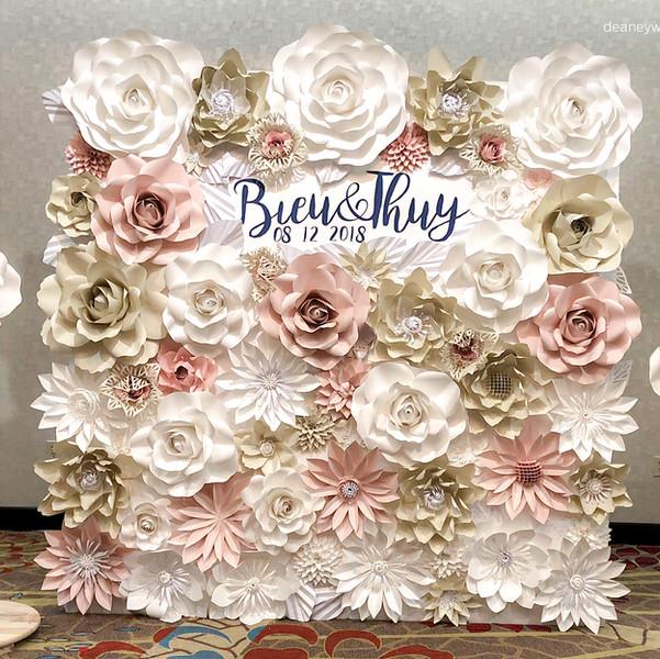 8' x 8' Full flower wall