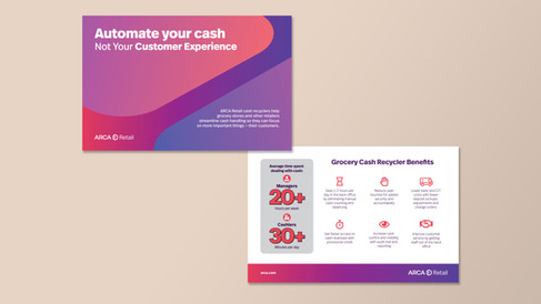 Information card for ARCA's retail services