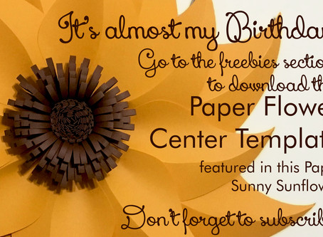It's almost my birthday! So I'm giving away free digital (SVG and PDF) templates for a Paper