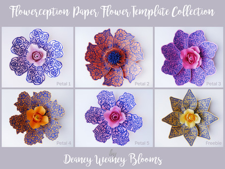 "Flowerception: ""Flowers within a flower"" New Paper Flower Template Collection from Deaney"