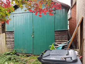 Old Shed pre garden renovation