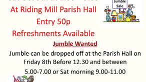 Jumble Sale This Sat 9th Oct... 1.00 to 3.00