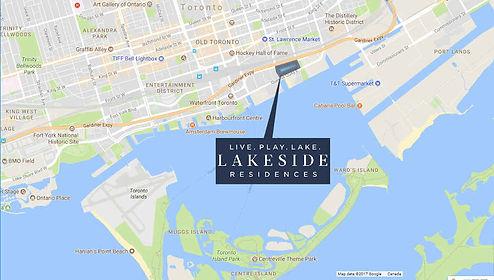 Lakeside Residences map