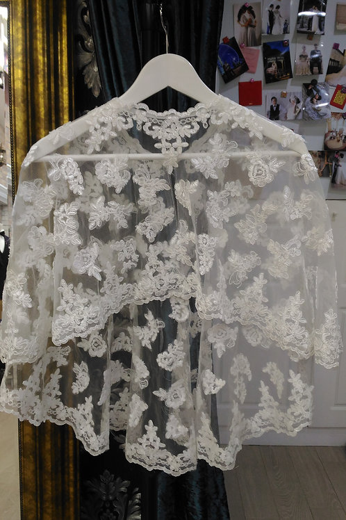 White Lace Cape