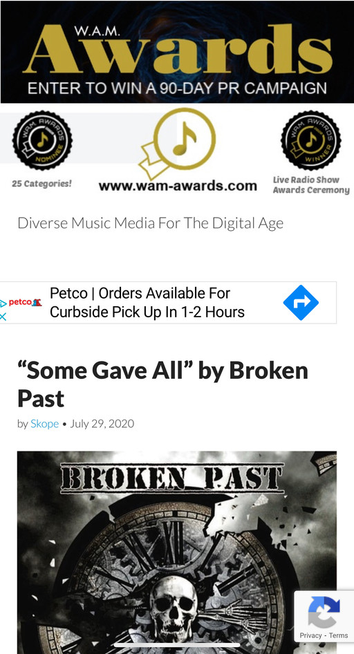 Broken Past gets some new reviews