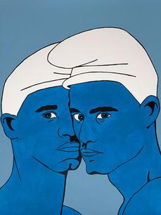 TWO BLUE MEN