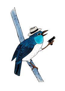 BIRD WITH GUN