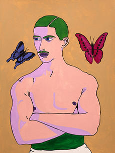 STRONG MAN WITH BUTTERFLIES