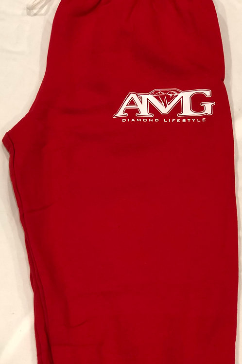 AMG (Red & White) Sweat Pants