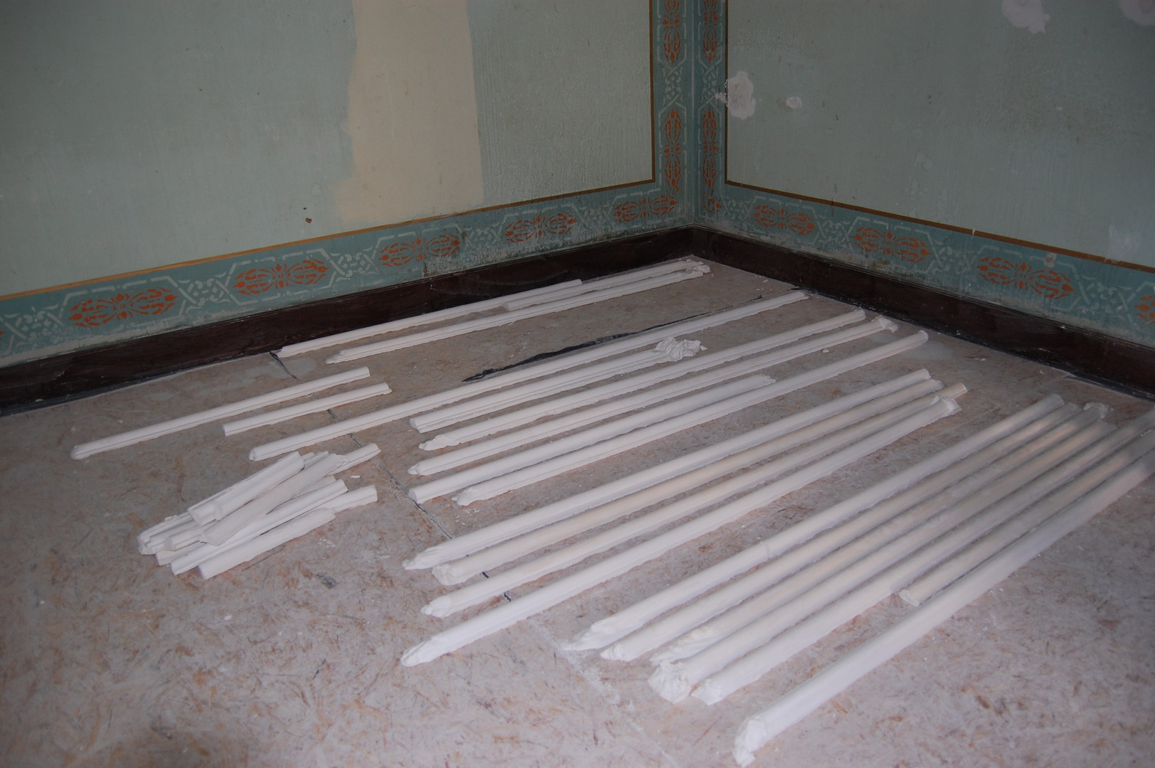 Pendant les travaux : fabrication des moulures