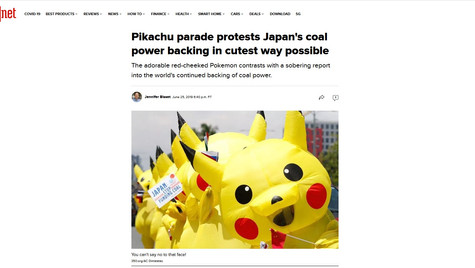 Pikachu protest on G20 2019
