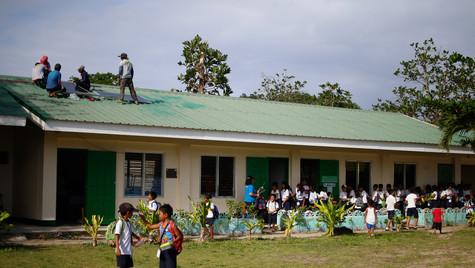 Solarizing public school in Suluan Island, Guiuan Eastern Samar