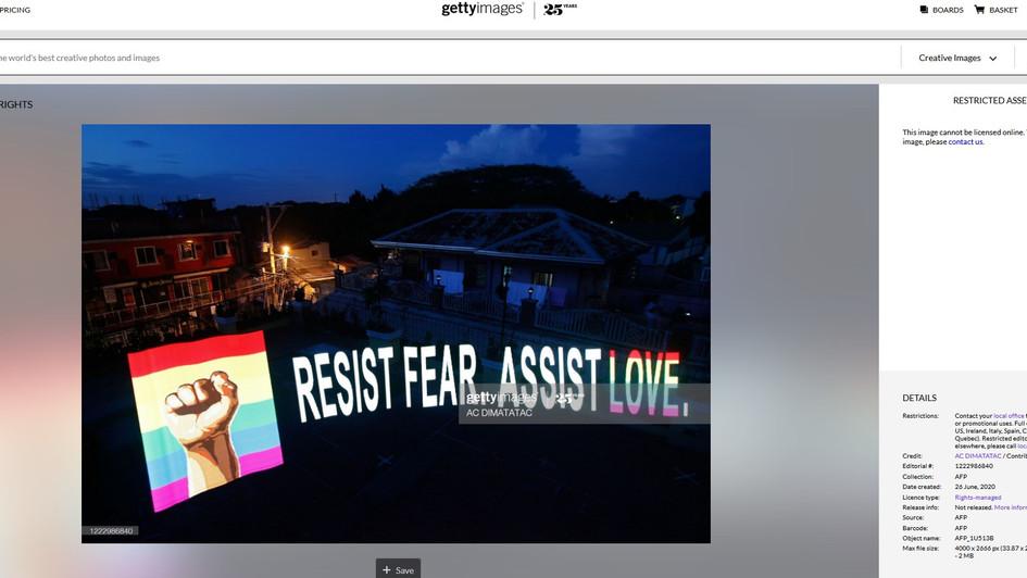 Resist Fear. Assist Love