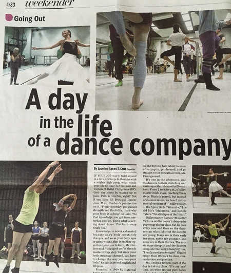 A day in a life of a dancer