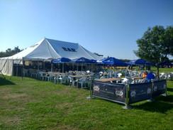 Festival bar set up