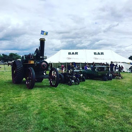 Steam rally beer tent