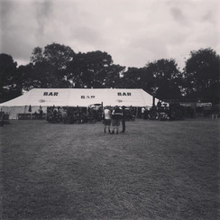 Steam Rally beer tent set up