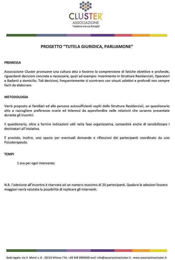 CLUSTER_Progetto TUTELA GIURIDICA per si