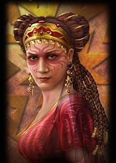 A Senhora das chamas - Rainha de paus