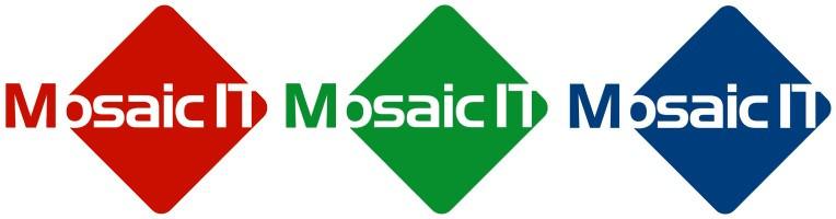 2007 Design Mosaic IT Logos; Red, green. Blue