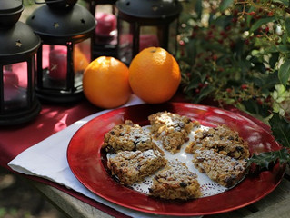 Festive Flapjacks with Cranberries and White Chocolate Chips