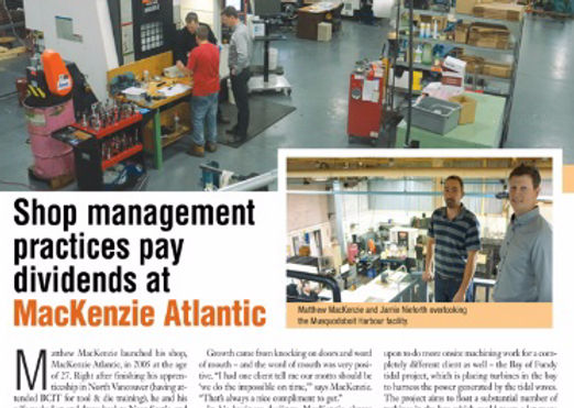Feature in MP&P Metalworking Production & Purchasing magazine