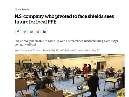 N.S. company who pivoted to face shields sees future for local PPE