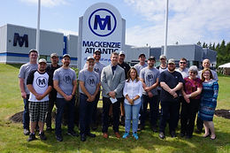 Minister Chrystia Freeland visits MacKenzie Atlantic for federal funding announcment