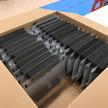 MacKenzie Atlantic face shields being packaged for shipment