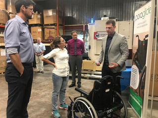 Foreign Affairs Minister, MP Sean Fraser tour facility, see Paraglide in action