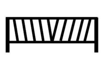 776  Angle Fence  (12 Pieces )