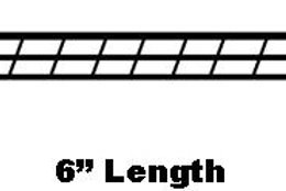778  Stair Rail Fence ( 6 inchs long ) ( 2 Pieces