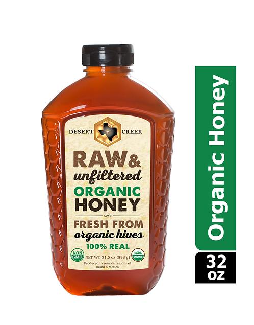 2lb Organic Raw Honey