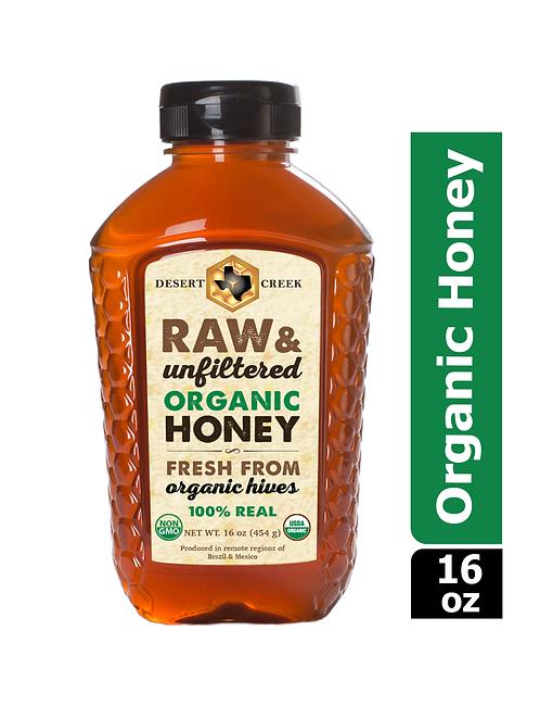 1lb Organic Raw Honey