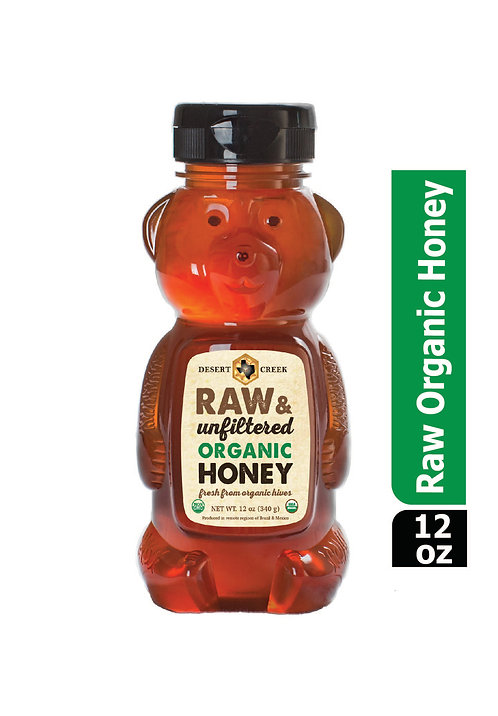 12oz Organic Raw Honey