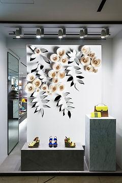 Exemple de décoration de vitrine avec mur végétal