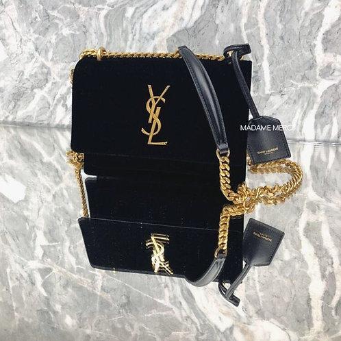 【Saint Laurent】SUNSET SMALL VELVET BAG