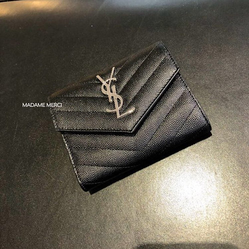 【Saint Laurent】LOULOU COMPACT WALLET× EMBOSSED LEATHER