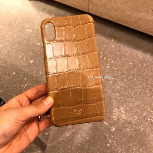【CELINE】Crocodile-style Calfskin Case for Iphone X & XS