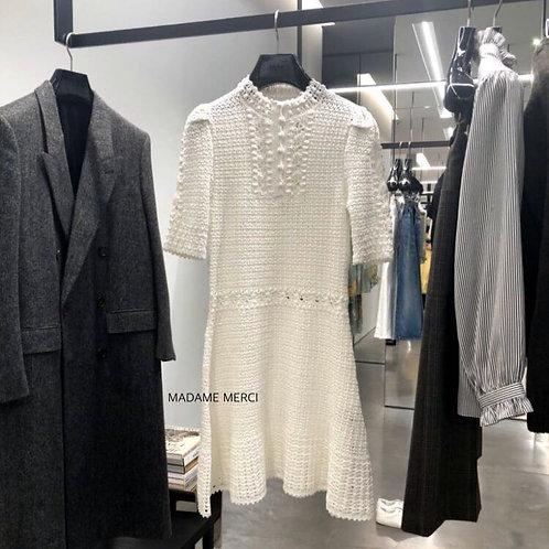 【CELINE】SHORT HAND CROCHET DRESS