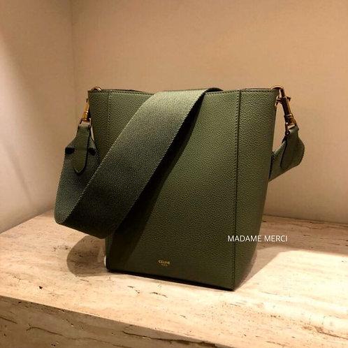 【CELINE】Small Model grained calfskin Strap Bucket Bag
