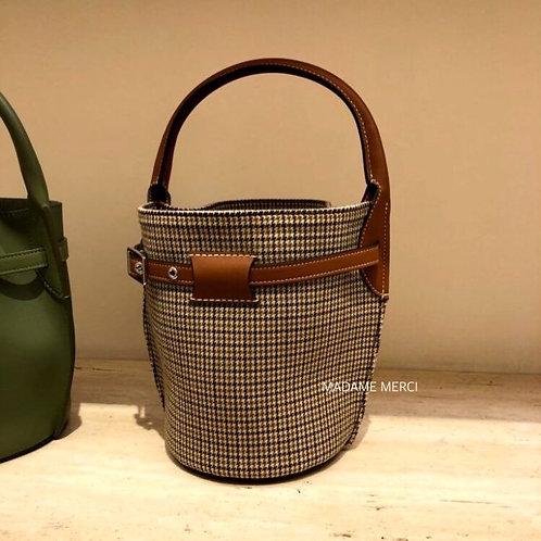 【CELINE】Big Bag Nano Model tweed & smooth calfskin Bucket Bag