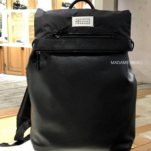 【Maison Margiela】Patch detail leather backpack